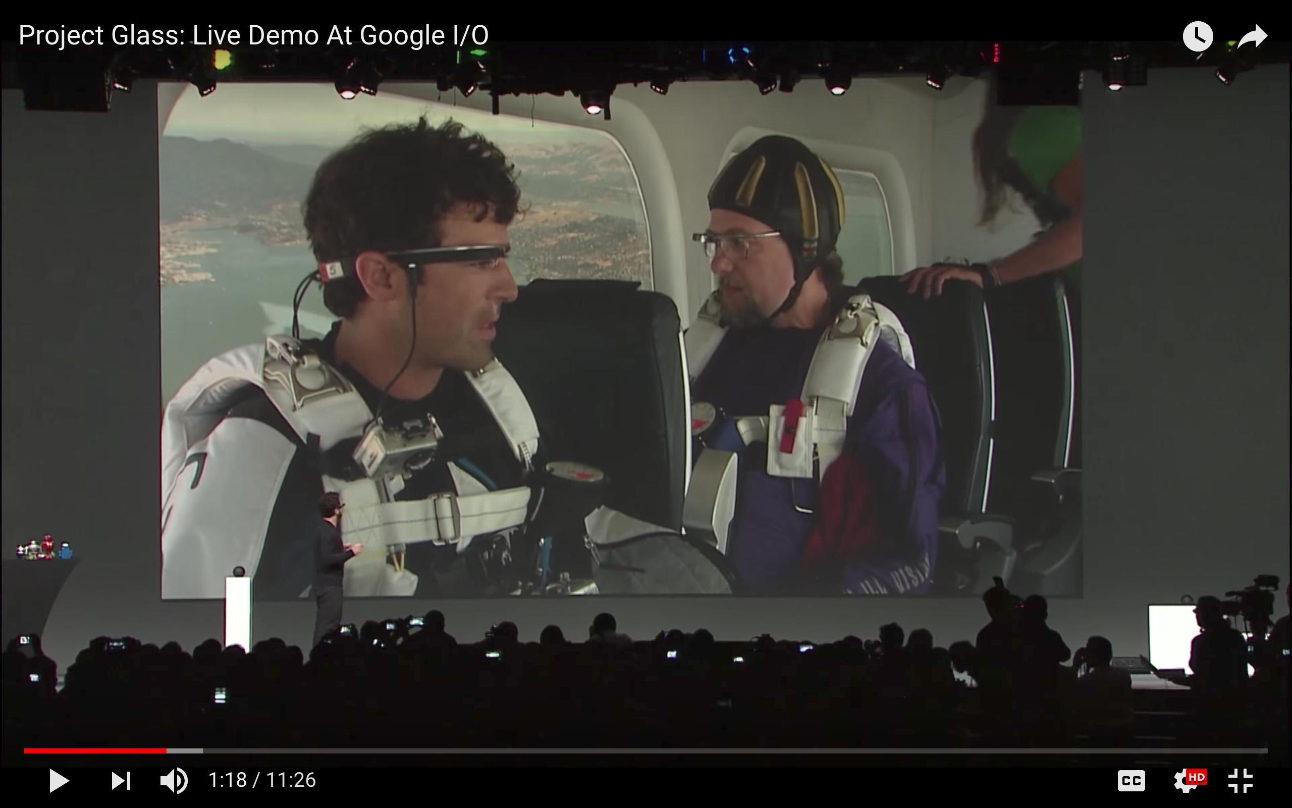Google Glass Display Screen
