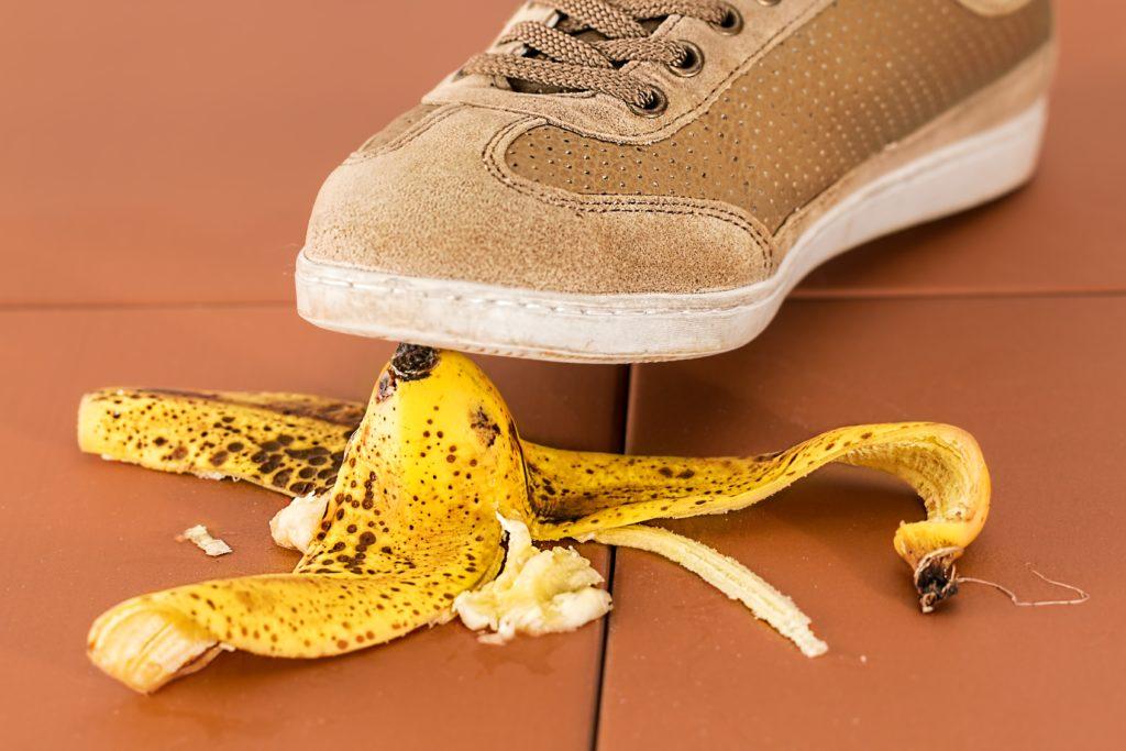 slippery banana