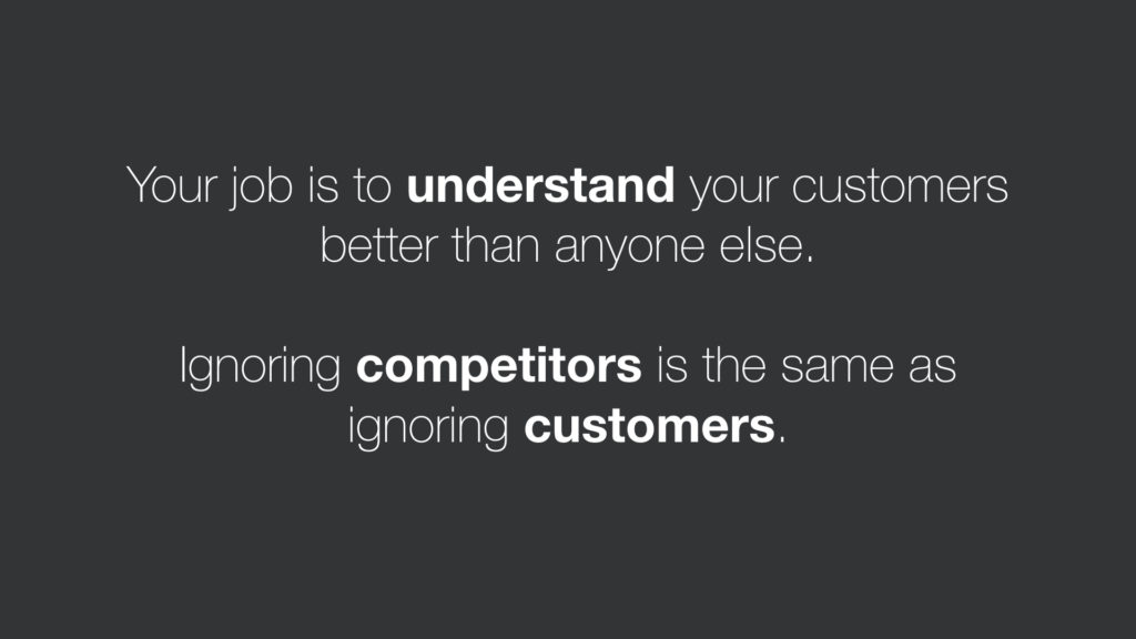Competitors and customers