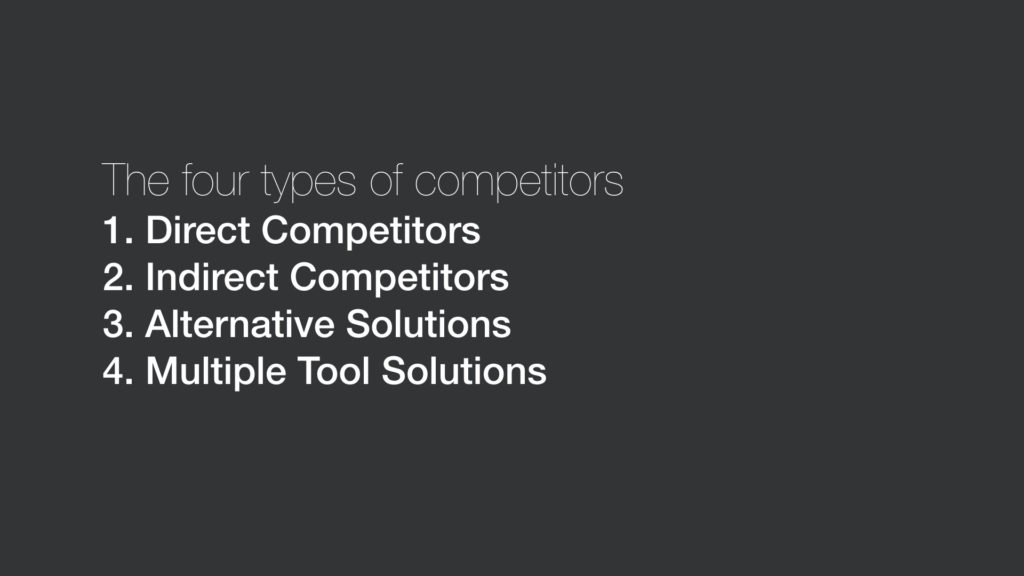 Four types of competitors