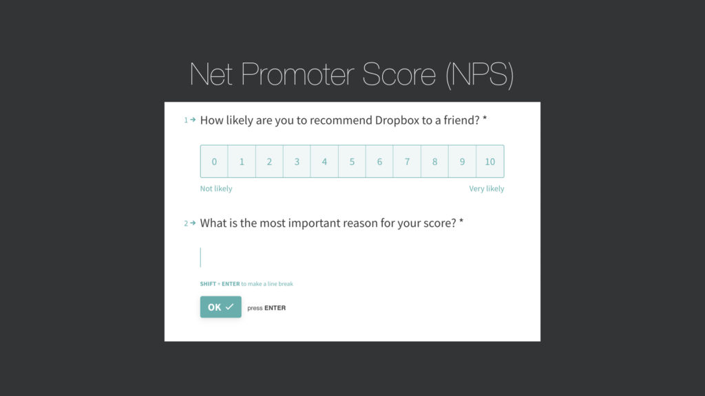 Net promoter score question