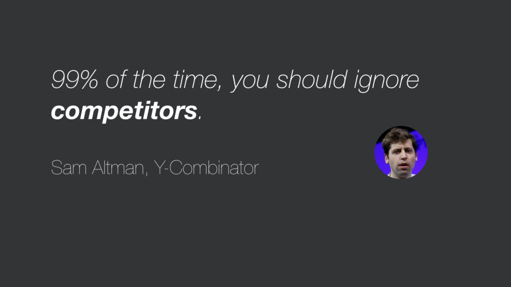 Why you shouldn't ignore your competitors